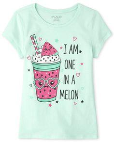 Cute Little Girls Outfits, Little Girl Dresses, Kids Outfits, Girls Tees, Shirts For Girls, Kids Shirts, Shirt Print Design, Summer Shirts, Printed Tees