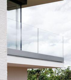 Metal railing / glass panel / for balconies - PAULI FRANCE