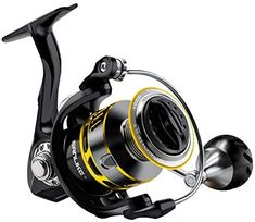 SAN LIKE Spinning Fishing Reels,Saltwater/Freshwater Fishing Reel,7+1 BB Light Weight,5.2:1 Gear Ratio 34 Lbs/40.5 Lbs Max Drag,Aluminum Handle
