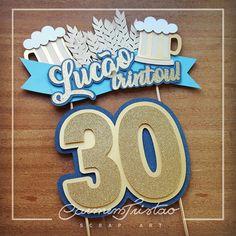 Cake Banner, Diy Banner, Diy Cake Topper, Cupcake Toppers, Diy Birthday, Birthday Party Themes, Birthday Gifts For Bestfriends, Cupcakes For Men, Paper Flower Patterns