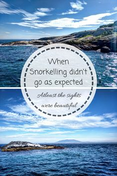 The Snorkelling Debacle - my first snorkelling experience
