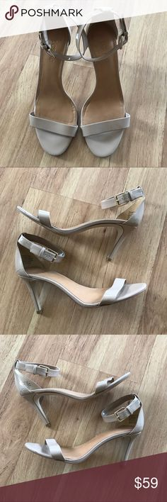 J. Crew Faux Patent Leather Nude Ankle Strap Heel Great condition! Check out the rest of my closet for more Adidas, Lululemon, Tory Burch, Urban Outfitters, Free People, Anthropologie, Topshop, Asos, Revolve, Zara, and American Apparel! J. Crew Shoes Heels