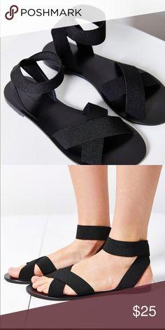 abbb8d9d90e Silence + Noise Alexa elastic sandal Elastic sandals in black Shoes Sandals