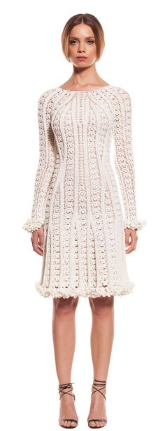 Helen Rödel white crochet dress.  Would love this without the sleeve/hem edging.