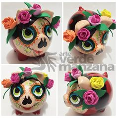 Alcancias Crafts To Make And Sell, Diy And Crafts, Crafts For Kids, Arts And Crafts, Diy Crafts For Boyfriend, Pig Bank, Paper Mache Animals, Mexican Crafts, Mexican Art