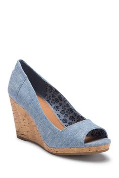 a8235bb1a Stella Chambray Wedge Sandal by TOMS on  nordstrom rack Cork