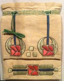 A stunning Arts and Crafts hand sewn linen and silk sewing bag, c from the American Textile History Museum in Lowell, Massachusetts. Arts And Crafts For Teens, Art And Craft Videos, Easy Arts And Crafts, Arts And Crafts Interiors, Arts And Crafts Furniture, Arts And Crafts Movement, Textiles, Crafts To Sell, Home Crafts