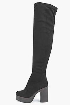 5831661e3cd Mya Platform 70 s Over Knee Boot Suede Chelsea Boots