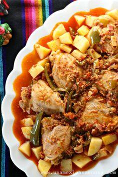 Pollo a la Mexicana: un platillo lleno de sabor para el día de los Reyes Magos. #AddFlavor #ad by www.unamexicanaenusa.com