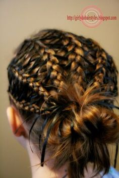 Little girl laced braids