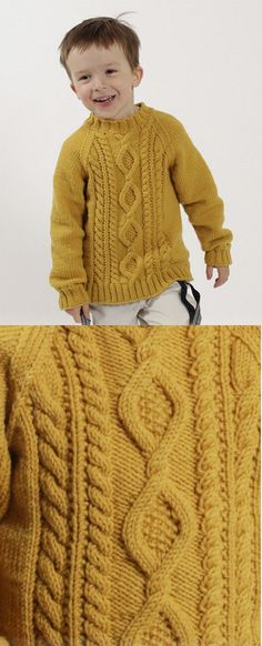 Free Children's Knitting Patterns to Download Aran Pullover