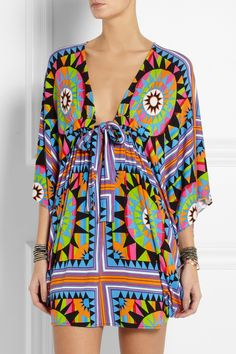 I discovered this Mara Hoffman | Shakti printed stretch-jersey coverup | NET-A-PORTER.COM on Keep. View it now.