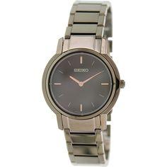 Seiko Women's SFQ819 Brown Stainless-Steel Quartz Watch