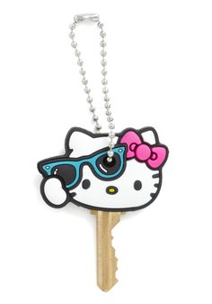 Key to Charm Key Cap in Cool Kitty by Loungefly - White, Multi, Kawaii