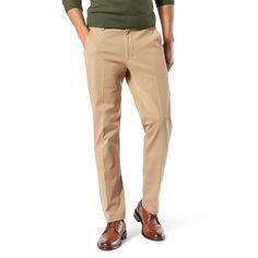 Men's Dockers® Smart 360 Flex Slim Tapered Fit Workday Khaki Pants, Size: 36X34, Beig/Green (Beig/Khaki)
