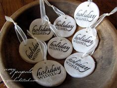 Sugar Bucket Ink: Salt Dough Ornaments & Rustic Packaging & Papertrey December Blog Hop Challenge
