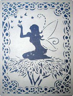 La fée - . Paper Cutting Patterns, Paper Cutting Templates, Vinyl Paper, Paper Art, Paper Crafts, Wood Burning Patterns, Maria Jose, Scroll Saw Patterns, Kirigami