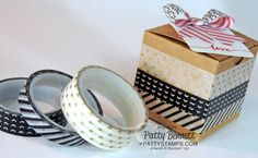Stacked with Love Washi Tape Gift Box