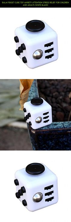 Balai Fidget Cube Toy Anxiety Attention Stress Relief for Children and Adults (White Black) #products #fidget #racing #plans #tech #parts #black #gadgets #shopping #fpv #white #cube #and #camera #drone #kit #technology