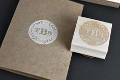 PERSONALIZED WOODLAND WREATH INITIALS HAND STAMP // BESOTTED BRAND,  HAVE THIS!