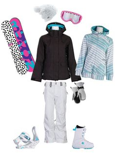 Awesome Burton Snowboard Outfit. I want this in reverse though with black pants and white jacket