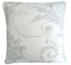 Cushion Cover Made From Josette Dove Grey/white Toile Laura Ashley Fabric 16""