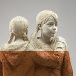 Figurative Wood Sculptures by Willy Verginer