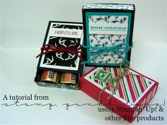 """2015  VIDEO Matchbox for 4  Hershey's Nuggets Using the Envelope Punch Board  score a 5 1/4"""" square of DSP at 1 7/8"""" & 2 7/8"""" on the first side. Score a 6 1/4"""" x 2 7/8"""" piece of cardstock at 1 1/2"""", 2 1/4"""", 4 3/8"""", 5 1/16"""" Drawer Liner: 2 13/16"""" x 2 1/16"""" First Layer Decoration: 2 5/8"""" x 1 7/8"""" Second Layer Decoration: 2 3/8"""" x 1 5/8"""""""