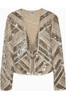 haute hippie embellished silk jacket.
