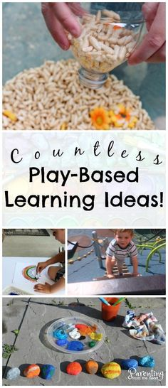 Facilitate play-based learning at home or in your classroom with these wonderful resources. Includes tips on how to build on your child's play, why play-based learning and sensory play are important, and loads of simple kids activities to promote learning Inquiry Based Learning, Project Based Learning, Kids Learning Activities, Toddler Learning, Infant Activities, Educational Activities, Motor Activities, Toddler Fun, Sensory Activities