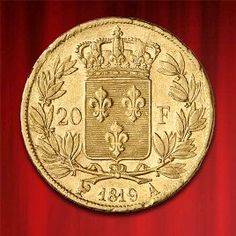 20 FRENCH FRANCS, LUDWIG XVIII. | LOUIS XVIII., GOLD in stock and has just been added to http://www.bullionuk.com/products/gold/coins/france/20-french-francs-ludwig-xviii-louis-xviii-gold.html