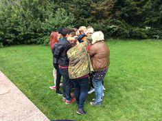 Lopuksi ryhmä meni vielä solmuun ja opas sai yrittää selvittää heidät.