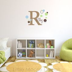 Children Wall Decal Baby Name Monogram Vinyl  by LittleMooseDecals, $37.00