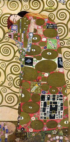 (original/detail) by Gustav Klimt (1862~1918) | 'Ожидание ~ Древо Жизни ~ Свершение'