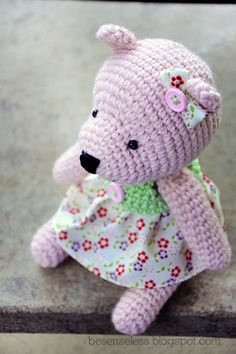 teddy bear... for girl (amigurumi, airali handmade)