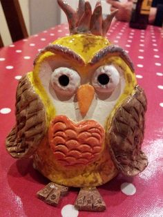 Pinch pot owl. This was the first thing i made in my pottery class.