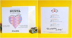 catworks.ro va pune la dispozitie o gama variata de invitatii personalizate pentru nunti sau botezuri. Ne puteti gasi si pe Tumblr sau Pinterest! Pune, Tumblr, Weddings, Books, Cards, Libros, Wedding, Book, Maps