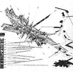 · Daniel Libeskind · Out of line, Berlin 1991 Architecture Concept Drawings, Chinese Architecture, Futuristic Architecture, Architecture Graphics, Architecture Office, Sustainable Architecture, Daniel Libeskind, Urban Mapping, Bernard Tschumi