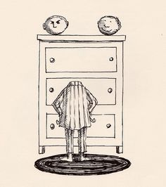 Edward Gorey - Illustration - Which one shall I wear today? Children's Book Illustration, Dark Art, Techno, Creepy, Scary, Cool Art, Sketches, Prints, Artwork