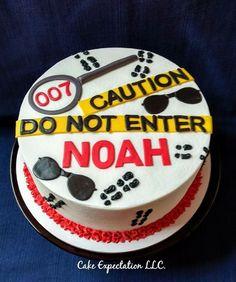 007 Spy Birthday Cake