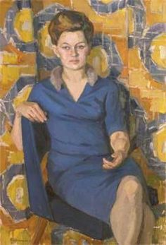 Женский портрет. ERMOLIN REM NIKOLAYEVICH (1926, LENINGRADO - 2004, SYKTYVKAR).
