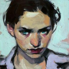 "Sabine, John Larriva, 6""x6"" oil on hardboard, 2016 : Art"