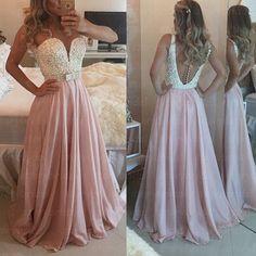 Elegant Handmade Burgundy Prom Dress 2015, Pearls Evening Gowns, Chiffon Floor Length Prom Dress, Elegant Prom Dresses, Evening Dresses