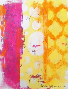 A Colorful Gelli Print Party at aColorfulJourney.com