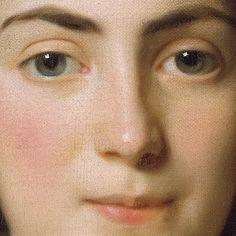 Alexander Roslin: Zoie Ghica, principessa Moldava. Olio su tela del 1777. 64,7 X 53 cm. Locazione sconosciuta. Un piccolo sorriso che appena le gira in su gli angoli della bella bocca: il volto e' percorso da un sottile craquele', dovuto al tempo passato e che non perdona nulla.