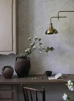 Types Of Rooms, Inspirational Wallpapers, White Wallpaper, Designers Guild, Shades Of White, Wall Treatments, Nocturne, Office Interiors, My Dream Home