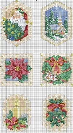 Natal Cross Stitch Needles, Xmas Cross Stitch, Cross Stitch Cards, Cross Stitch Designs, Cross Stitch Patterns, Cross Stitching, Cross Stitch Embroidery, Goblin, Zoom Zoom