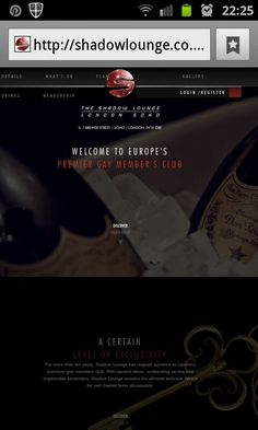 Site for our client Novus.  Www.shadowlounge.co.uk
