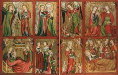 linker und rechter Altarflügel aus dem Prämonstratenserstift Altenberg, um 1330