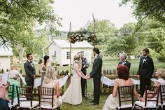 outdoor ceremony at at leiper's fork inn
